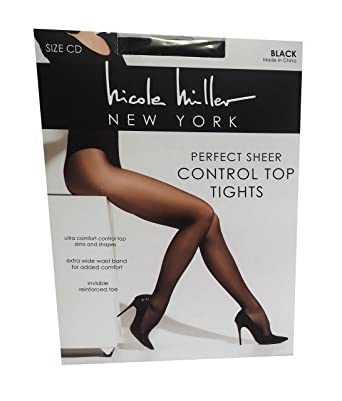 Nicole Miller Women's Control Top Perfect Sheer Tights Pantyhose 2 Pack by Nicole Mille