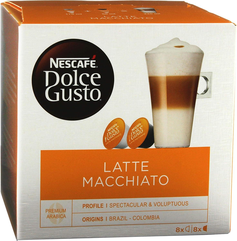 Nescafé Dolce Gusto Latte Macchiato Vanilla, Paquete de 5, 5 x 16 ...