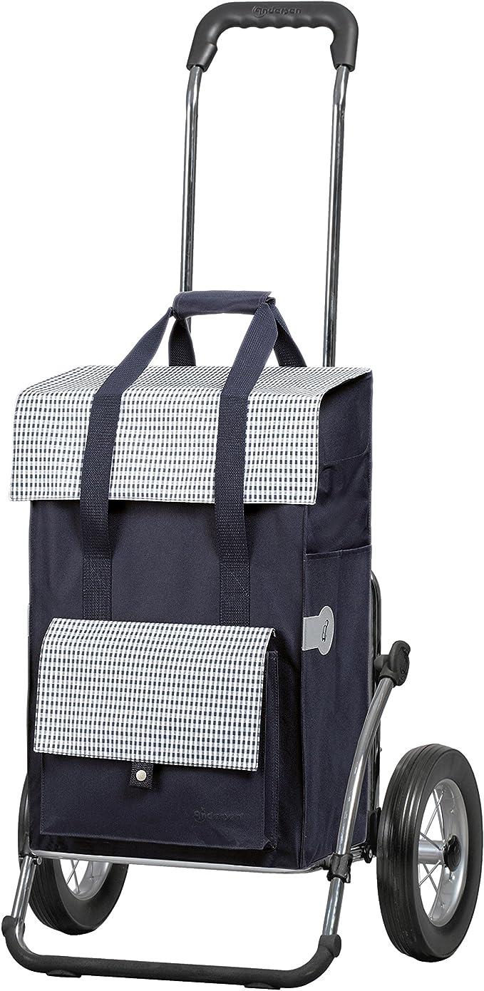 Andersen Shopper Royal Alu klappbar mit Metall-Speichen Rad /Ø 25cm und 51 Liter Tasche Ine grau