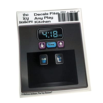 The Toy Restore Replacement Stickers Spare Decals Fits IKEA DUKTIG Play Kitchen Microwave Dial: Toys & Games