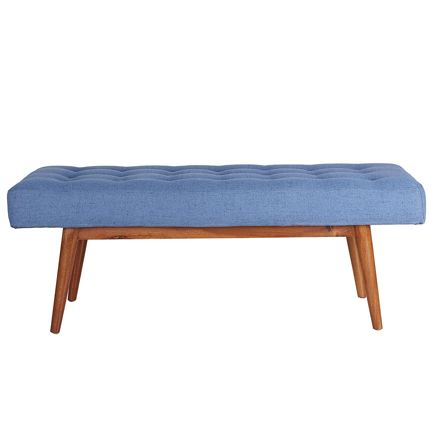 Amazon.com: Porthos Home Etheline Side Bench, Blue: Kitchen & Dining