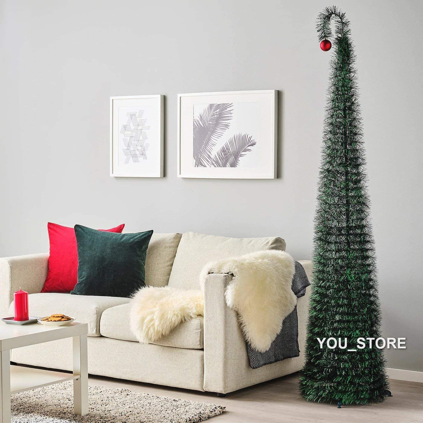 Albero Di Natale Ikea.Ikea Vinterfest Decorazione Albero Di Natale Artificiale Verde 180 Cm Amazon It Casa E Cucina