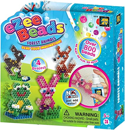 AMAV Toys Ezee Beads Water Fuse Beads Mixed Fun Craft Kit Perfect Birthday Activity for Kids Aged 5+ No Ironing DIY Game