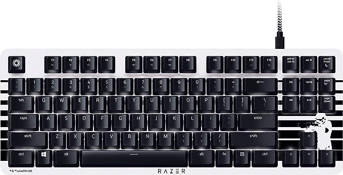 Razer BlackWidow Lite Stormtrooper Edition, Teclado mecánico silencioso para juegos, teclado compacto con interruptores Razer Orange: táctil y ...