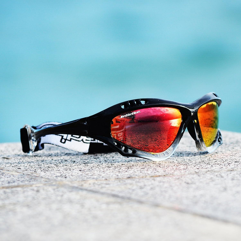 Jettribe Pro Black Sunglasses Jet Ski Goggle Kite Boarding Surfer Kayak