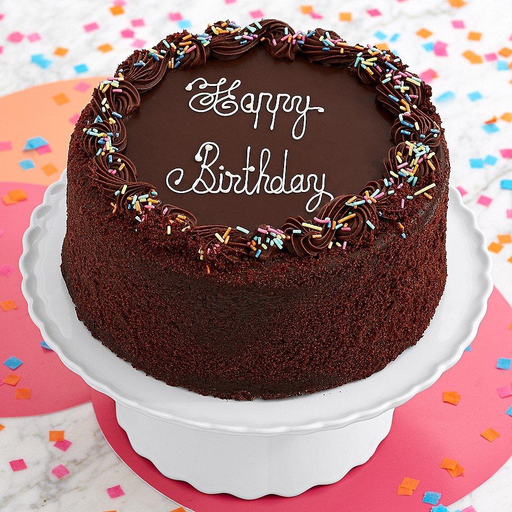 Sharis Berries Three Layer Chocolate Happy Birthday Cake 1