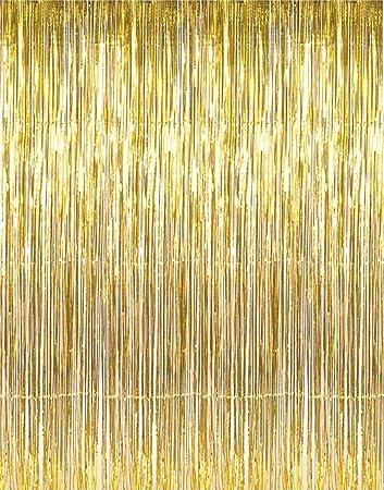 Amazon Com Giftexpress 1 Pack Metallic Gold Tinsel Fringe Photo