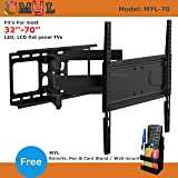 "MYL Imported 6 Way Swivel Tilt TV Wall Mount for LCD/LED TV's Upto 32"" to 55"" inch MYL-M443 (HIG 70"")"