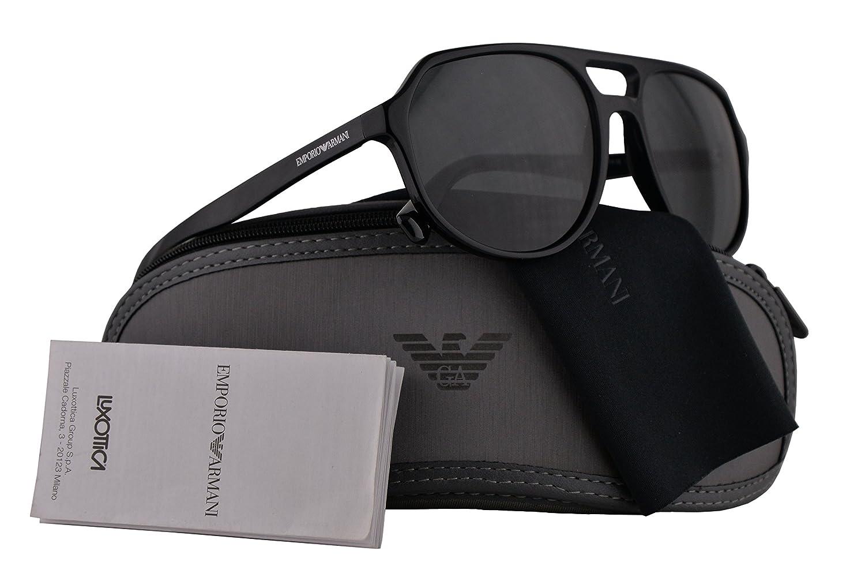 08768965499 Emporio Armani EA4111 Sunglasses Black w Grey Lens 57mm 500187 EA 4111   Amazon.co.uk  Clothing