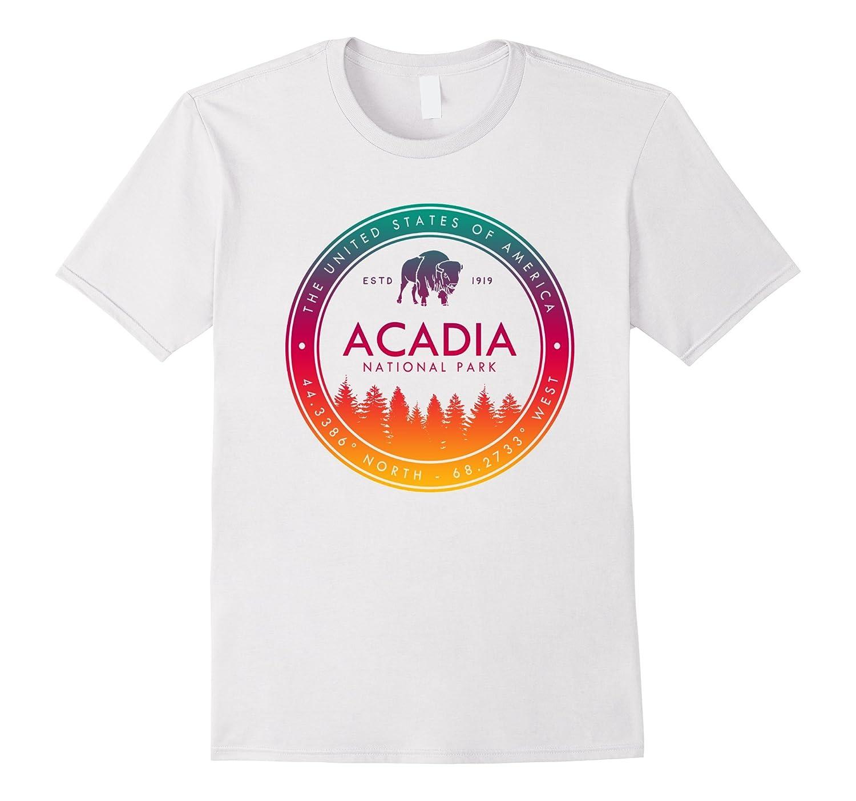 Acadia National Park T Shirt Maine Emblem Souvenirs-ah my shirt one gift