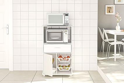 Amazon.com: boahaus White Cocina Gabinete de almacenamiento ...
