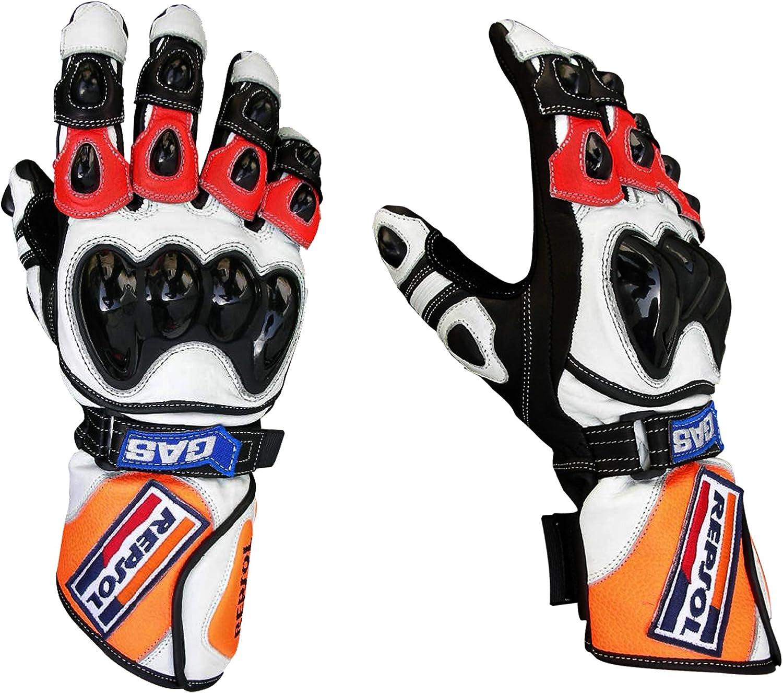 Gants moto Gants Repsol Gants en cuir Moto Racing Motogp M