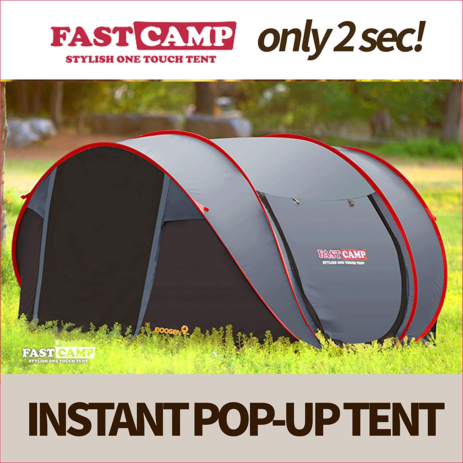 Fastcamp Tent Super Big for 4-5persons (3-5days Delivery) (Grey) 141[並行輸入]   B01K4L7R5A