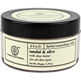 Khadi Natural Sandal and Olive Face Nourishing Cream, 50g