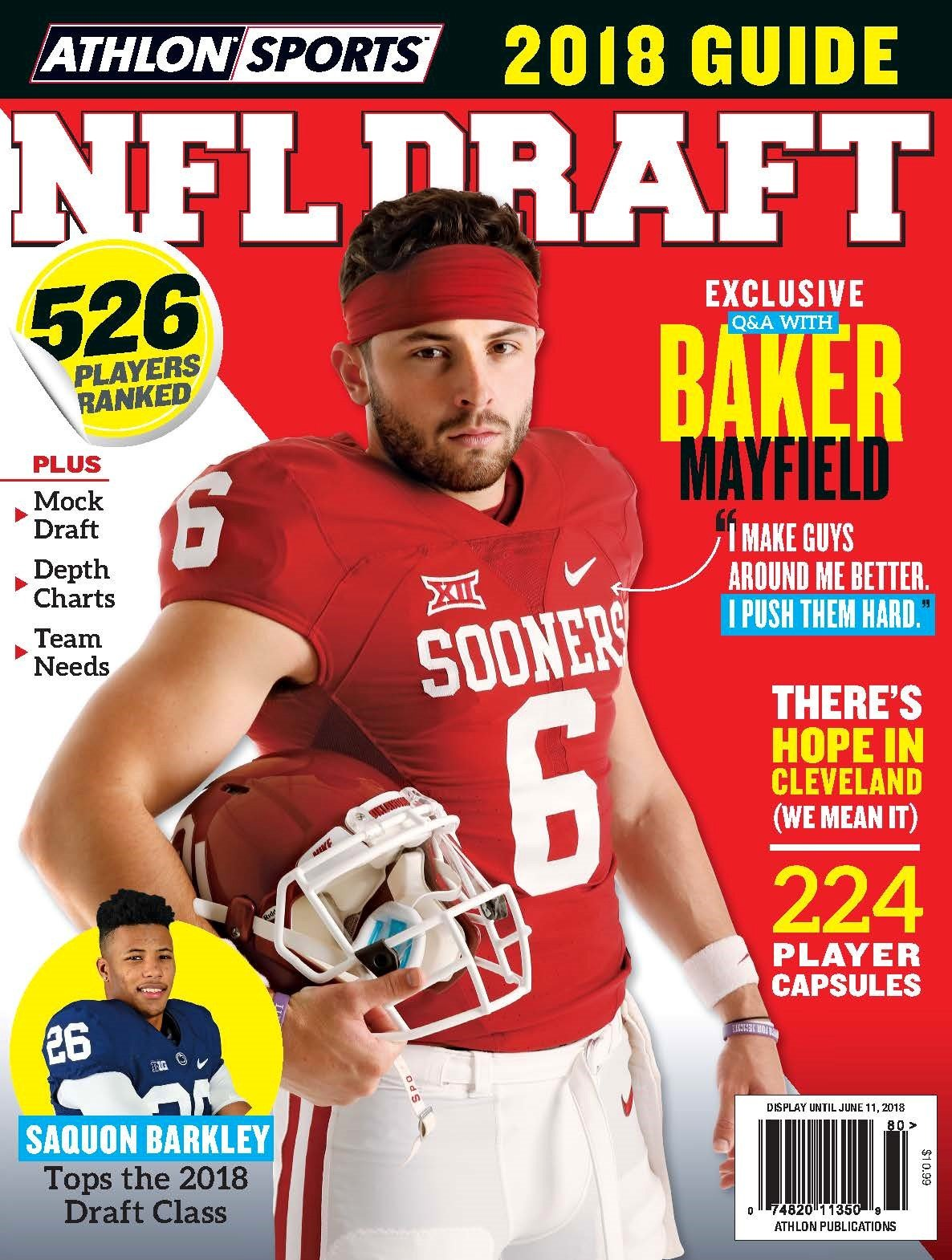 athlon sports 2018 nfl draft preview magazine baker mayfield