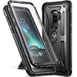 Galaxy S9+ Plus Case, YOUMAKER Kickstand Case with Built-in Screen Protector Shockproof Case Cover for Samsung Galaxy S9 Plus 6.2 inch (2018) - Black
