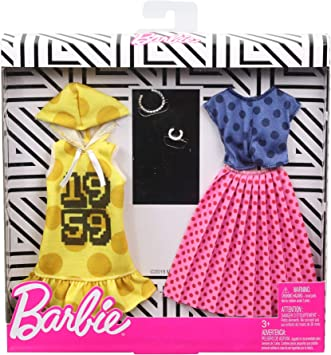 Amazon.es: Barbie Pack de Accesorios de Moda Falda de Lunares Rosada (Mattel GHX60), color/modelo surtido: Juguetes ...