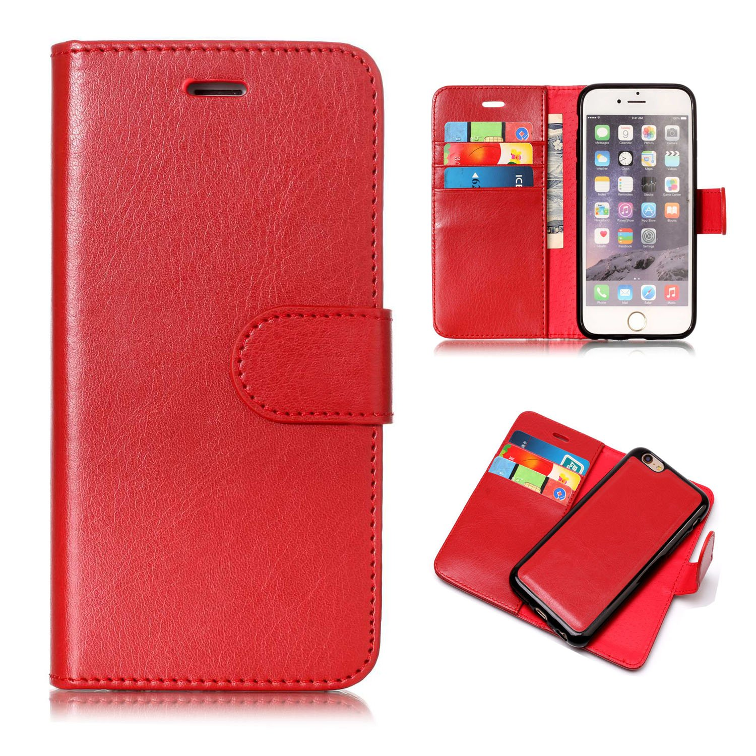 new concept 9f418 a9250 Amazon.com: iPhone 6s Case, iPhone 6 Case, UZER 2 in 1 Detachable ...