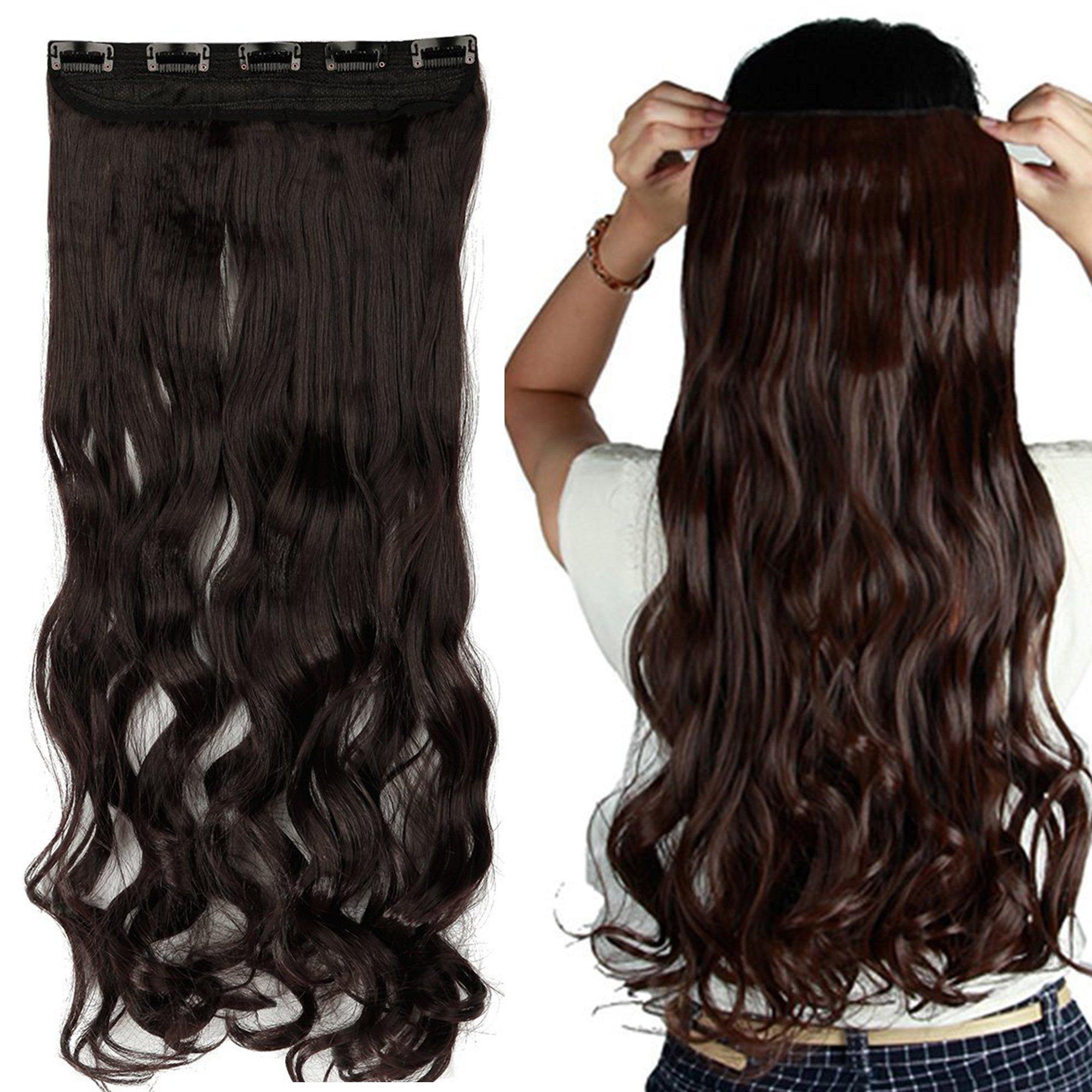 Amazon s noilite 29 30 inches curly straight one piece clip s noilite 2426 straight curly 34 full head one pmusecretfo Images
