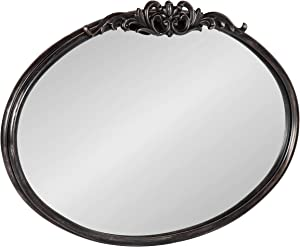 """Kate and Laurel Arendahl Glam Ornate Mirror, 27"""" x 18.75"""", Black, Traditional Baroque Inspired Wall Decor"""