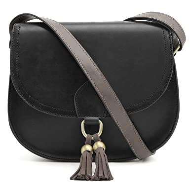 ECOSUSI Saddle Shoulder Bags Purse Vintage Crossbody Bag for Women with  Tassels 9b7592545d9a3
