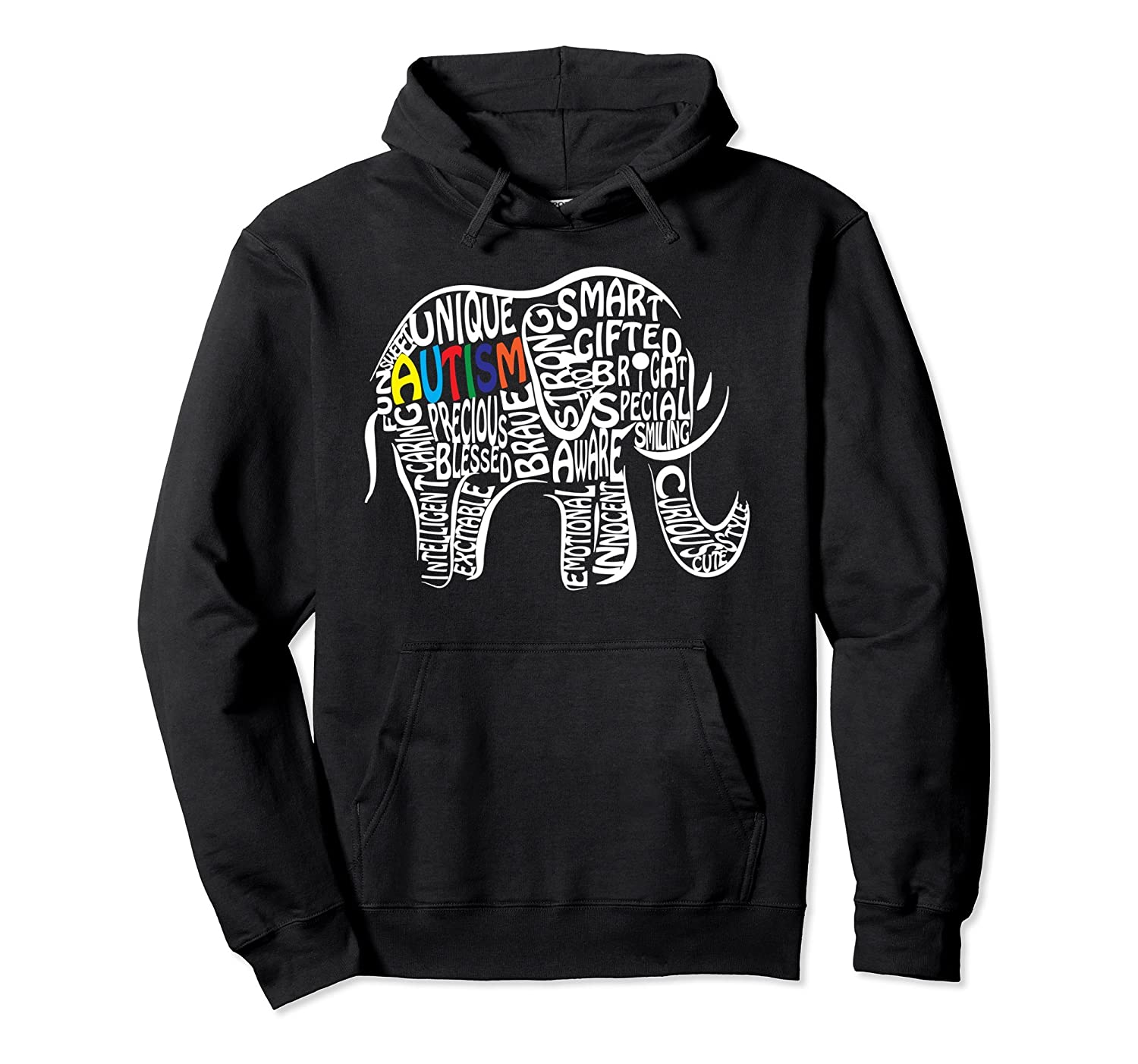 Autism Awareness Elephant Pullover Hoodie-TH