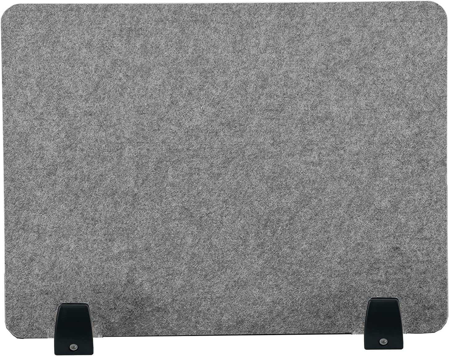 """Amycheer Polyester Acoustic Desk Divider Panels Office Partition Lightweight Desk Privacy Panel Sound Absorbing Desk Screen for Offices/Classroom/Library/Call Center 20×16""""(Light Gray, Without Clip)"""