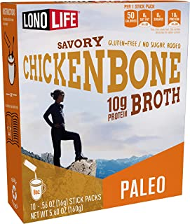 product image for LonoLife Chicken Bone Broth Powder with 10g Protein, Paleo and Keto Friendly, Stick Packs, 10 Count