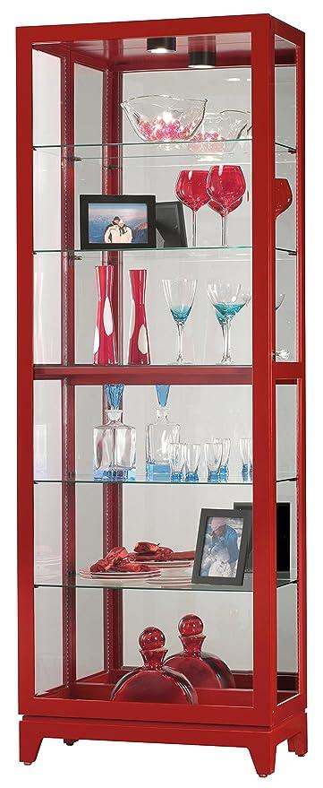 Ordinaire Howard Miller Luke V Gloss Red Curio Cabinet