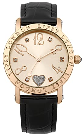 4c49cc98 Image Unavailable. Image not available for. Colour: Lipsy Women's Quartz  Watch with Rose Gold Dial ...