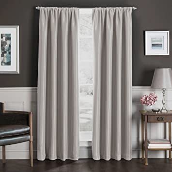Sebastian 95 Inch Rod Pocket Insulated Total Blackout Window Curtain Panel  in Natural. Amazon com  Sebastian 95 Inch Rod Pocket Insulated Total Blackout