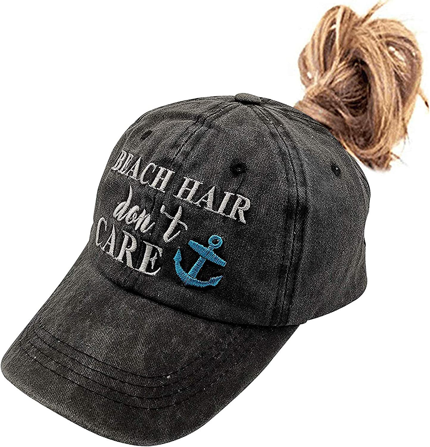 Waldeal Beach Don't Care Embroidered Baseball Cap Vintage Distressed Hat