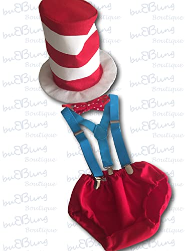 Image Unavailable Not Available For Color Cat In The Hat 1st Birthday Outfit