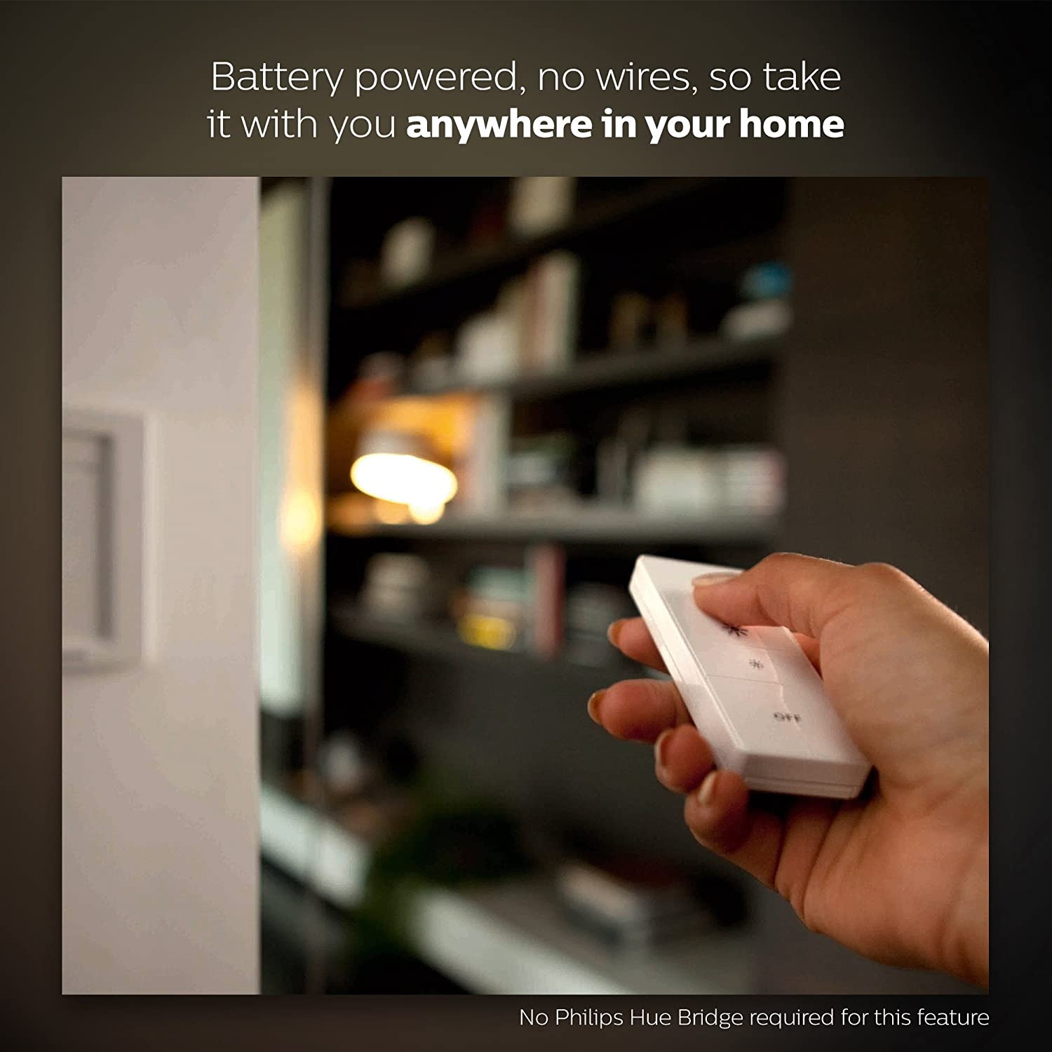 Philips Hue Smart Dimming Kit No Hub Required /& Installation-Free