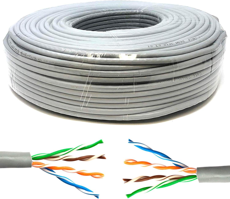 Mr Tronic 50m Cable De Instalación Red Ethernet Bobina Cat5e Awg24 Cca Utp Color Gris 50 Metros Amazon Es Electrónica