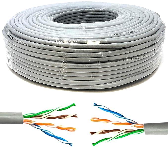 8 opinioni per Mr. Tronic 50 Metri Cavo di Rete Ethernet 50m | CAT5E, AWG24, CCA, UTP, RJ45 |