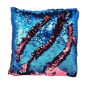 Amazon.com: Cambia de Color de almohada de sirena con ...
