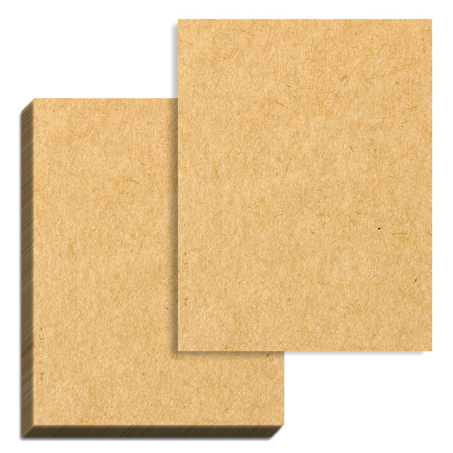 100 Sheets Brown Kraft Paper 37 lb. Cover 100 GSM 8.5 x 11 inches