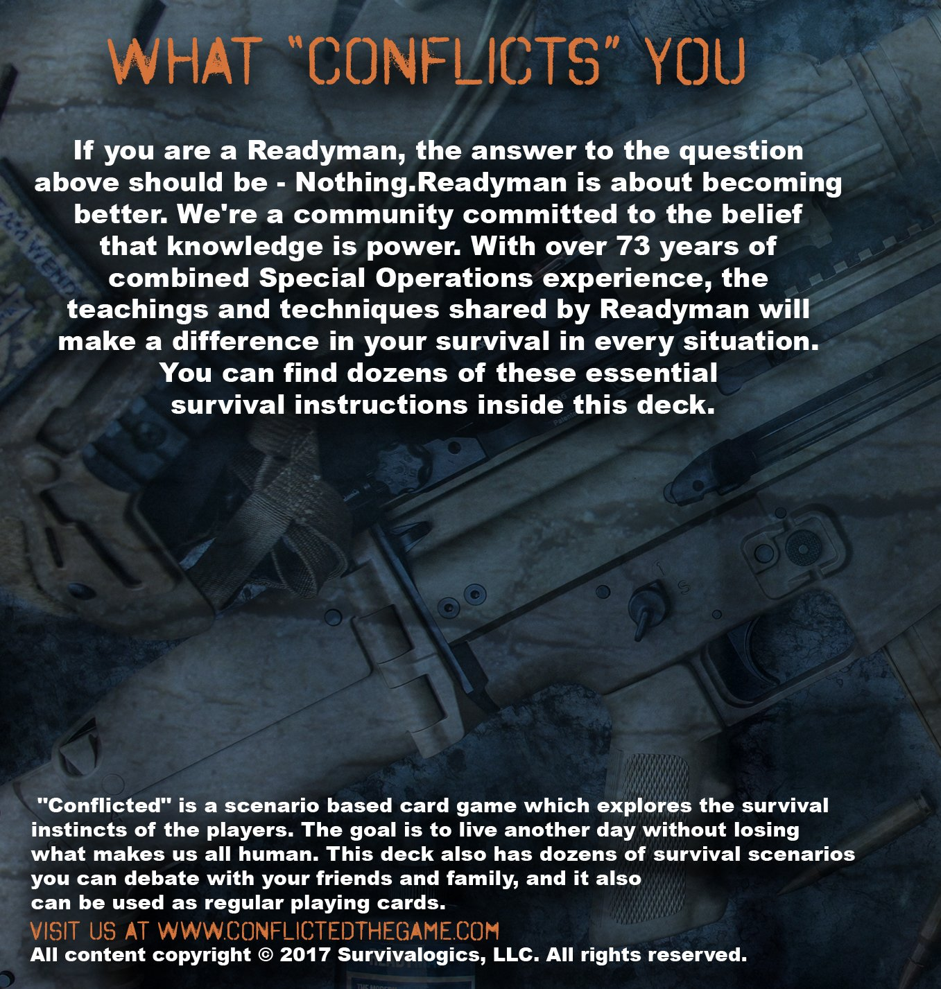 Conflicted: The Survival Card Game Deck 10 - ReadyMan (bonus tool)