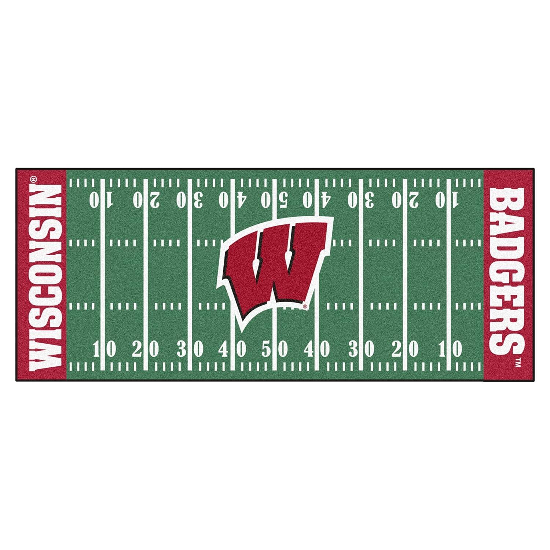FANMATS NCAA University of Wisconsin Badgers Nylon Face Football Field Runner