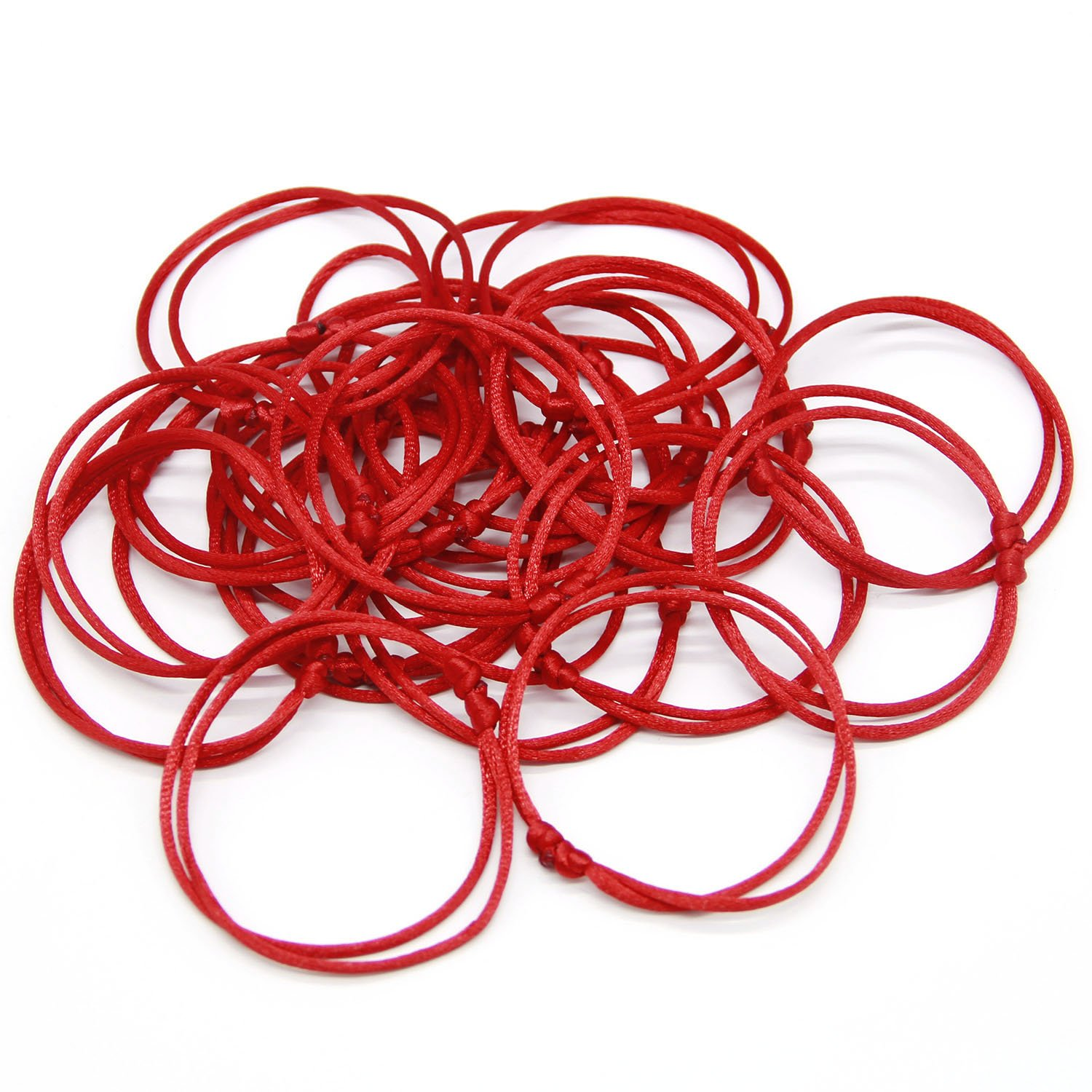 Coolrunner Lot - 12 Kabbalah Red String Bracelets Evil Eye Jewelry Kabala Charm Fashion Bangle (Red 12)