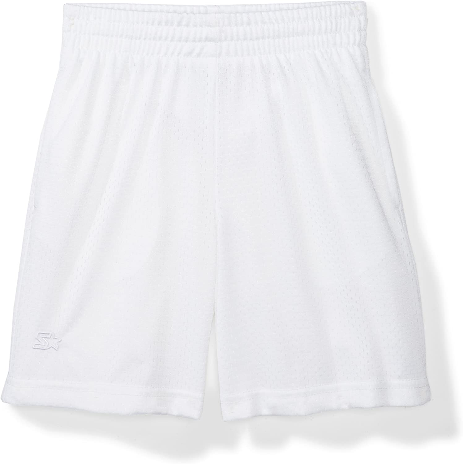 "Starter Boys' 7"" Mesh Short with Pockets,  Exclusive: Clothing"