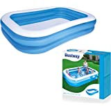 Bestway 54006-BNFX16XX02 Rectangular Inflatable Family Pool - 103 inch, Blue, White