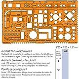 Regleta con formas geográficas/plantilla de arquitectura 1:50