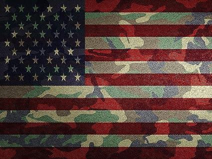 Amazon.com  US Flag Poster Camo Flag US Flag Military Flag American ... db9783fb766