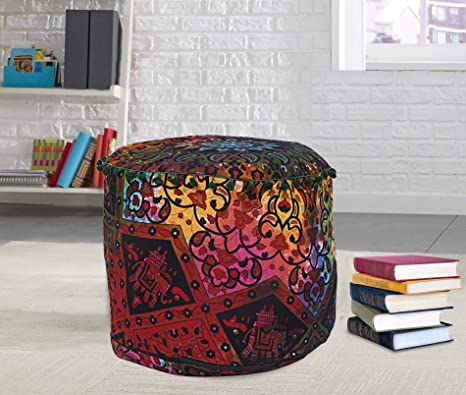 Magnificent Amazon Com Ombre Star Mandala Round Seating Pouf Cover Creativecarmelina Interior Chair Design Creativecarmelinacom
