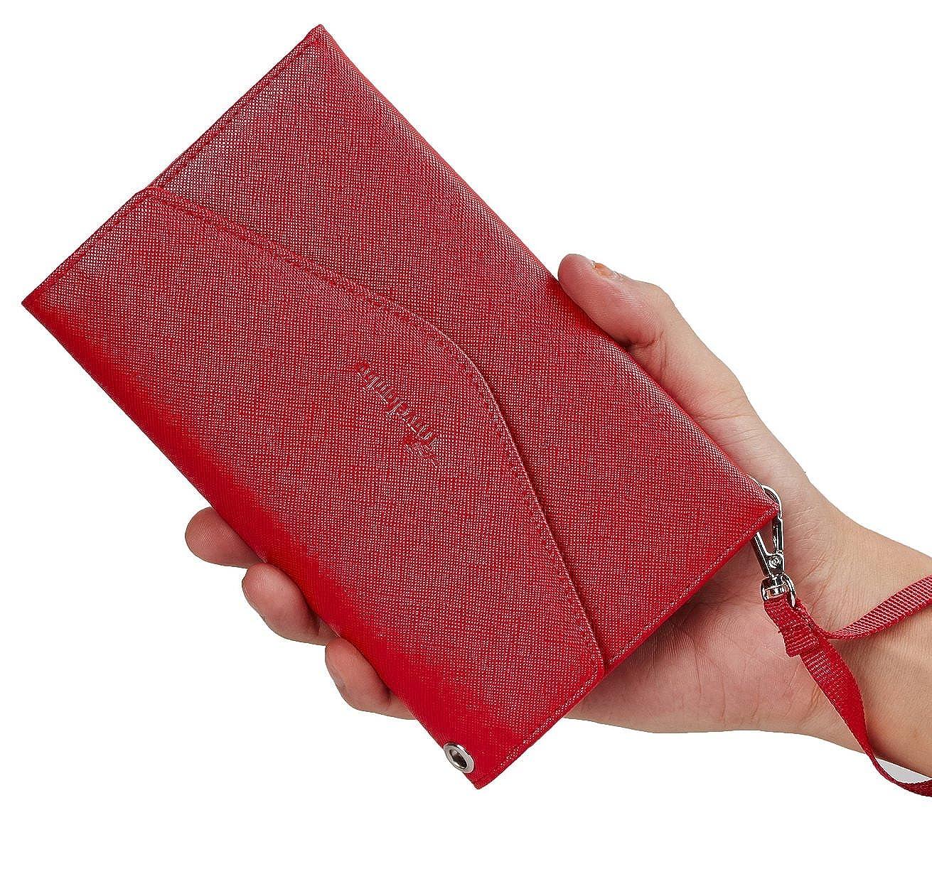 Travelambo Rfid Blocking Passport Holder Wallet /& Travel Wallet Envelope Various Colors tra703