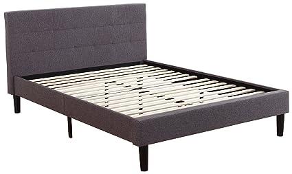 platform bed frame. Deluxe Tufted Platform Bed Frame W/ Wooden Slats