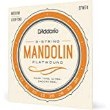 D'Addario EFW74 Phosphor Bronze Flatwound Mandolin Strings