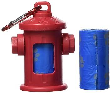 OUT! boca de incendios estilo dispensador de bolsas para excrementos de perro con recambio de